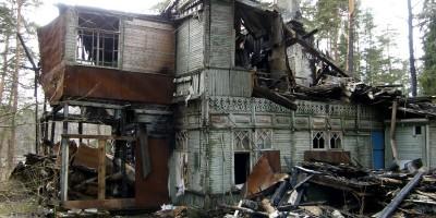 дача Собелова на Приморском шоссе, 114, в Зеленогорске после пожара