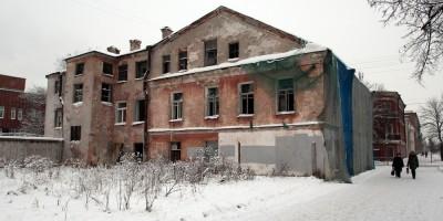 Кронштадт, Посадская улица, 35, дворовый фасад