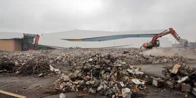 Магнитогорская, снос, гора мусора