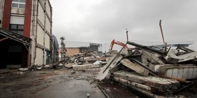 Магнитогорская, снос, строительный мусор