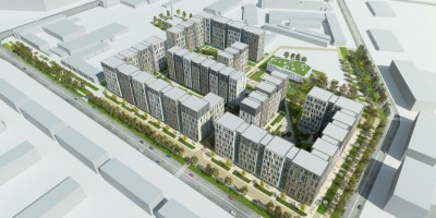 Проект жилого комплекса на углу Грибалевой и Новолитовской