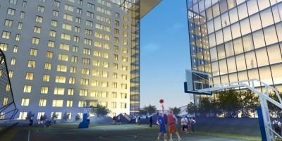 Проспект Энергетиков, дом 4, корпус 1, офисно-жилой комплекс, двор