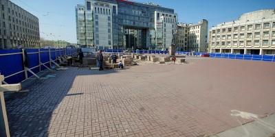 Шпалерная улица, ремонт у памятника Дзержинскому