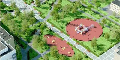 Сквер Мациевича, детская площадка