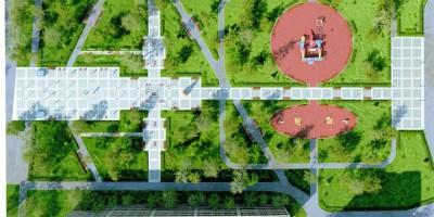 Сквер Мациевича, общий план