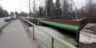 Трамвайный мост через Чухонку, строительство