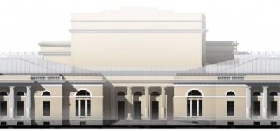 Здание фондохранища Этнографического музея, первый вариант