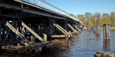 2-й Елагин мост, опоры