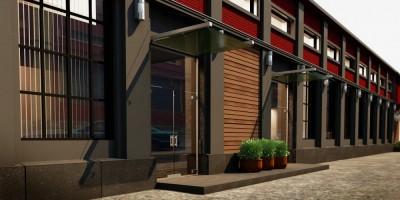 Бродильный цех Калинкинского завода, проект реконструкции, двор