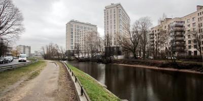 Черная речка, место будущего моста
