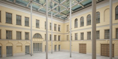 Дом Абазы, проект, Фонтанка, интерьер первого двора