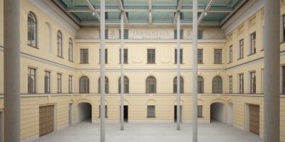 Дом Абазы, проект, Фонтанка, интерьер первого двора, арки