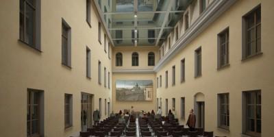 Дом Абазы, проект, Фонтанка, интерьер второго двора, конференц-зал