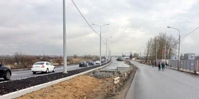 Петербургское шоссе, дорога на путепровод