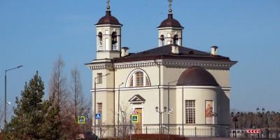 Пулковское, Смоленская церковь у Экспофорума, задний фасад