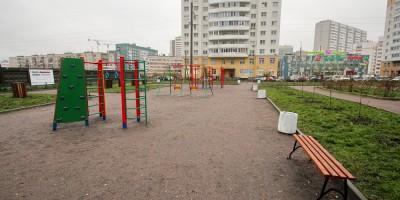 Шушары, сквер на Вишерской, детская площадка