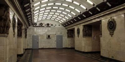 Станция метро Нарвская, подземный зал