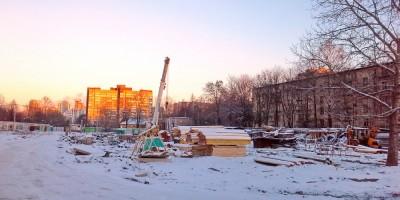 Строительство на проспекте Стачек