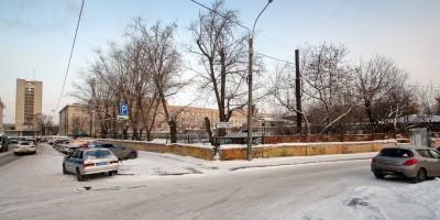 Угол Барочной улицы и набережной Карповки