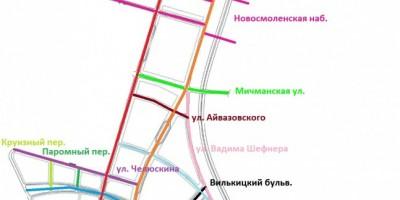Улицы намывной части Василеостровского района
