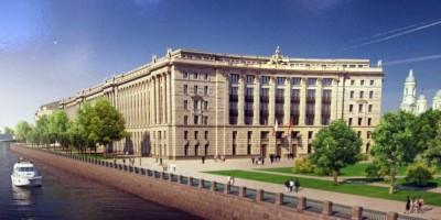 Верховный суд на проспекте Добролюбова, балконы