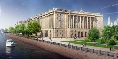 Верховный суд на проспекте Добролюбова, колонны