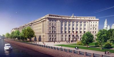 Верховный суд на проспекте Добролюбова, пилястры