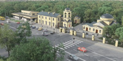 Часовня на Большеохтинском кладбище