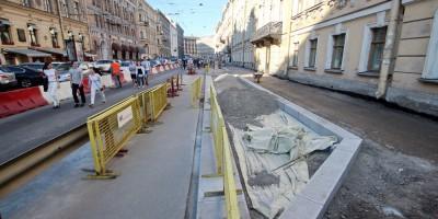 Малая Морская улица, реконструкция тротуаров