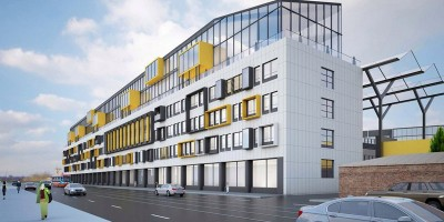 Новочеркасский проспект, проект реконструкции главного здания, боковой фасад