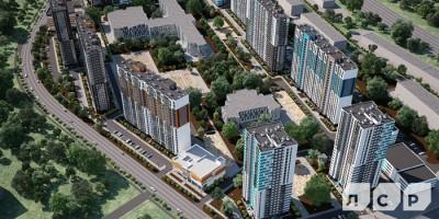 Первый квартал жилого комплекса Цветной город вдоль Муринской дороги