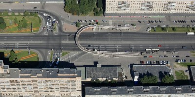 Пешеходный переход над проспектом Славы