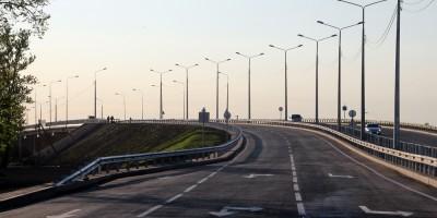 Петербургское шоссе, путепровод перед открытием