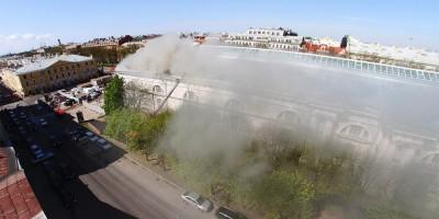 Пожар в Конногвардейском манеже