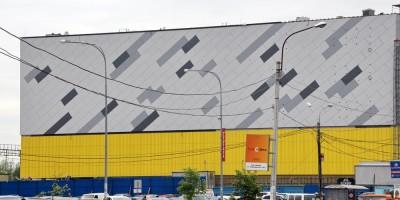 Рыбацкое, стена торгового центра Порт Находка