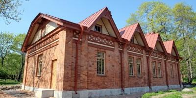 Сарай дворца Гогенфельзен в Московском переулке, лицевой фасад