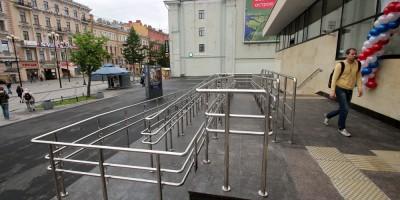 Станция метро Васлеостровская, пандус