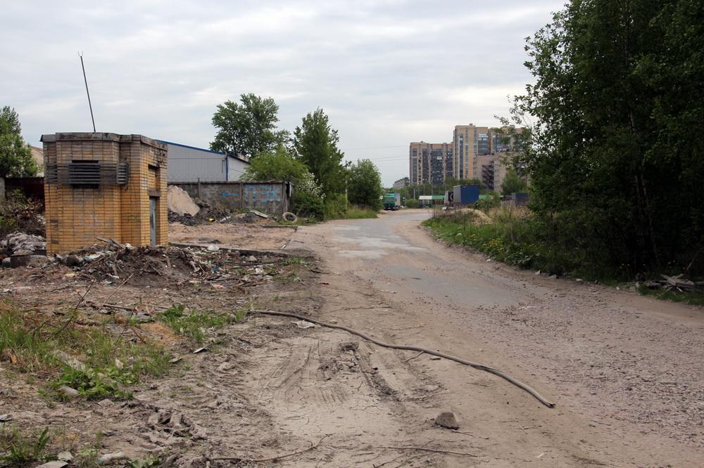 Улица Дыбенко, грунтовка