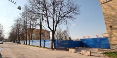 Военное инженерно-строительное училище в Пушкине после сноса