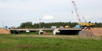 Киевское шоссе, мост над рекой Ижорой