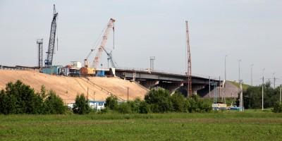 Киевское шоссе, путепровод над железной дорогой