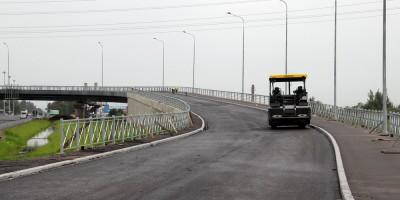 Московское шоссе, северный путепровод, готовый съезд