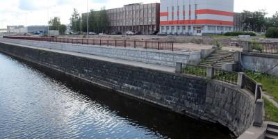 Набережная Обводного канала, строительство стенки