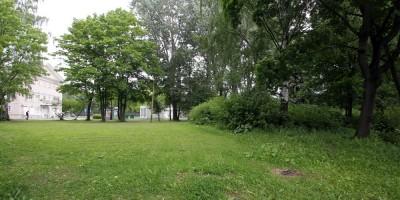 Набережная реки Крестовки, участок, зелень