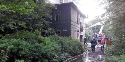 Пожар на даче Амброжевича в Пушкине
