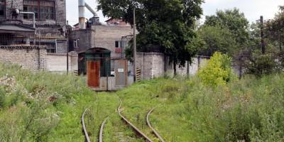 Черниговская улица, железная дорога на завод Аист