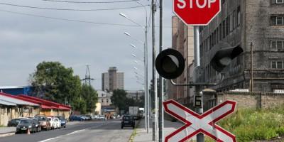 Черниговская улица, железнодорожный переезд, светофор