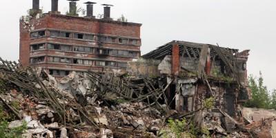 Снос завода Самсон на Боровой улице, советский корпус