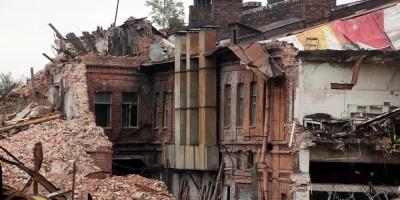 Снос завода Самсон на Боровой улице, старинное здание