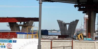 Строительство Яхтенного моста, опоры